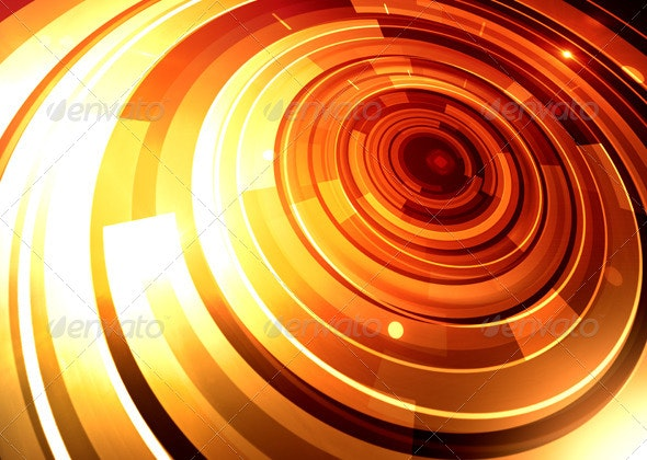 Gold Orbit - Tech / Futuristic Backgrounds