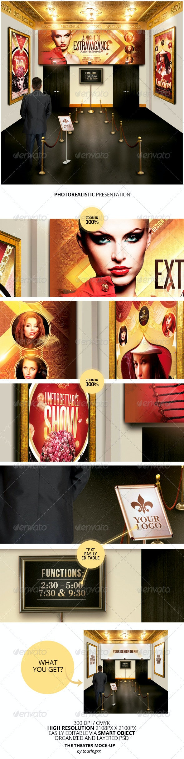 The Theater Mock-Up Template - Product Mock-Ups Graphics