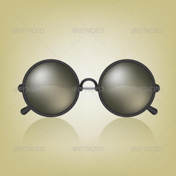Retro Sunglasses Illustration - Objects Vectors