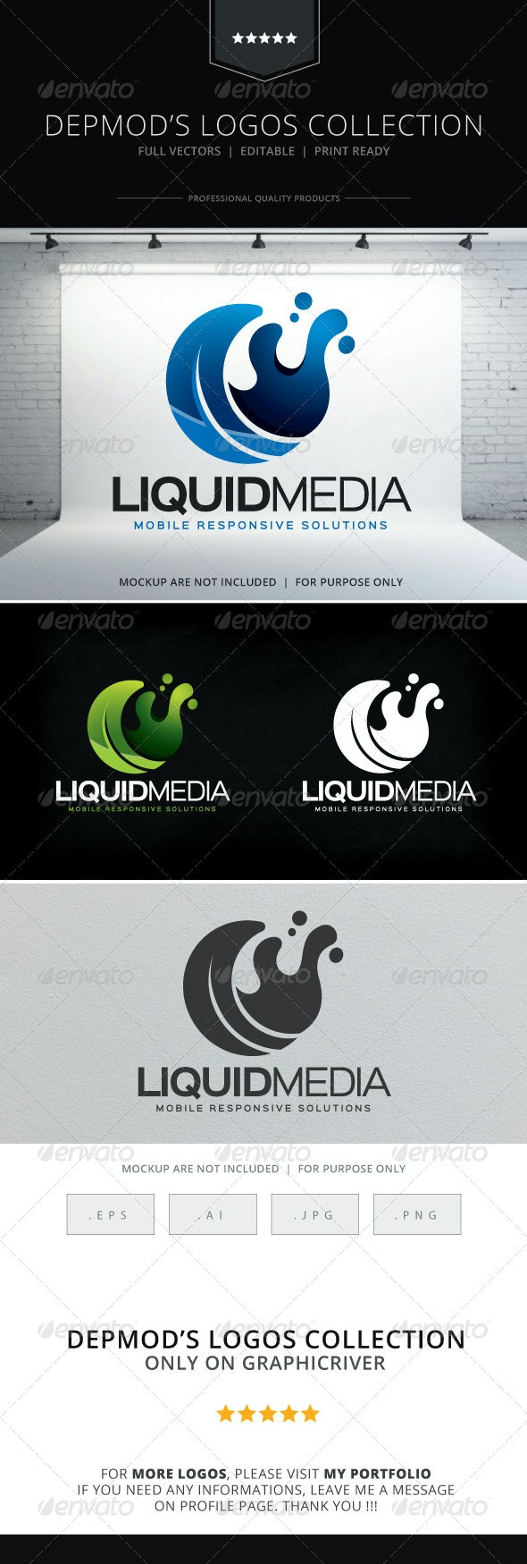 Liquid Media Logo - Abstract Logo Templates
