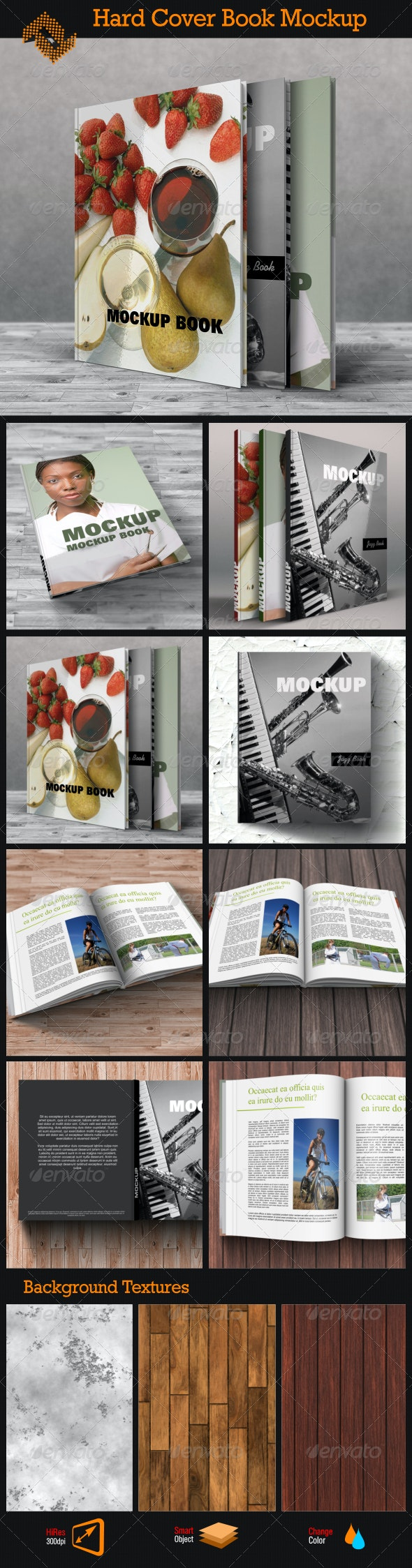 Book Mockup / Hard Cover - Books Print