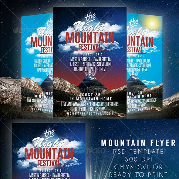 Mountain Festival Party Flyer Template