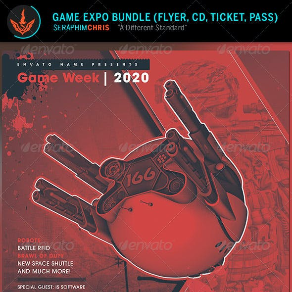 Game Expo: Flyer and Media Bundle
