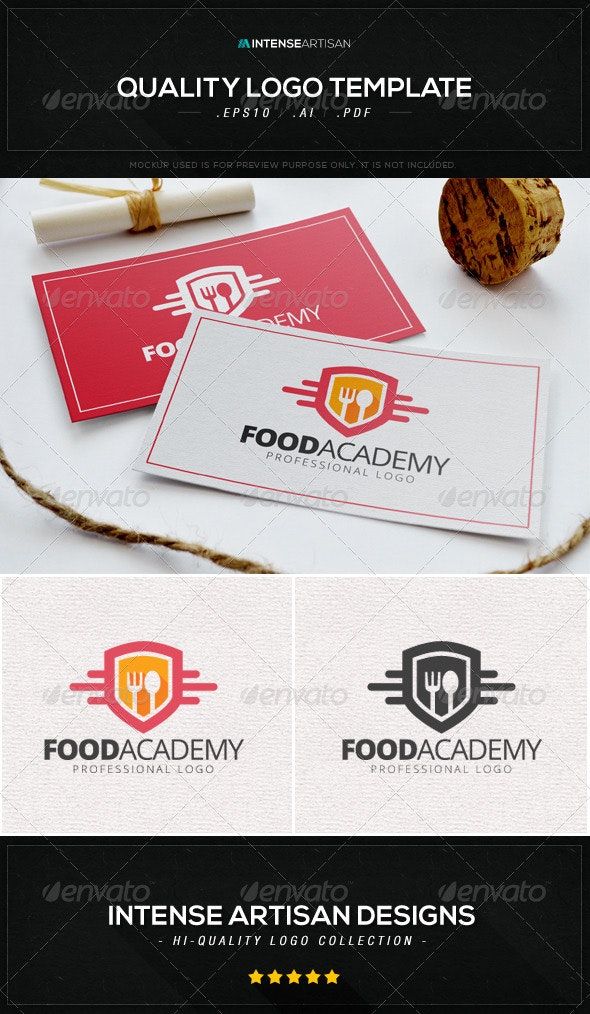 Food Academy Logo Template - Food Logo Templates