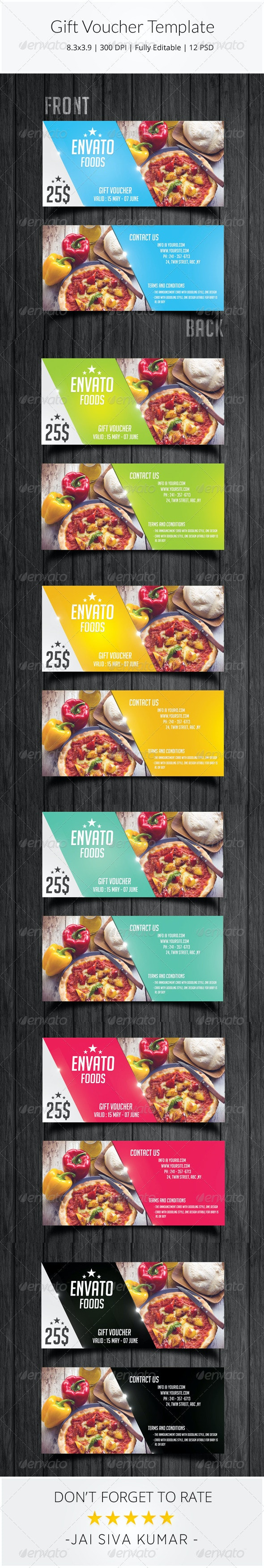 Gift Voucher Template - Loyalty Cards Cards & Invites
