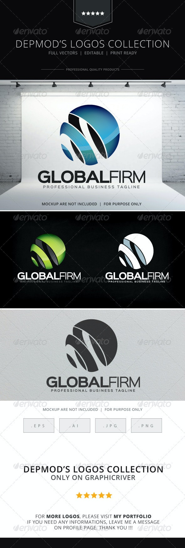 Global Firm Logo - Abstract Logo Templates