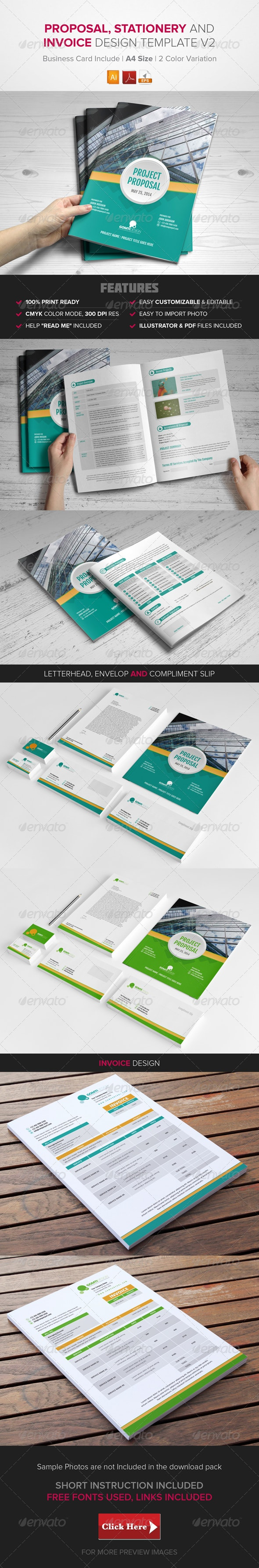 Proposal, Stationary & Invoice Design Template v2 - Stationery Print Templates