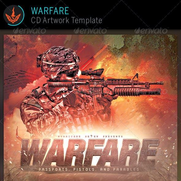Warfare Gaming CD Artwork Template