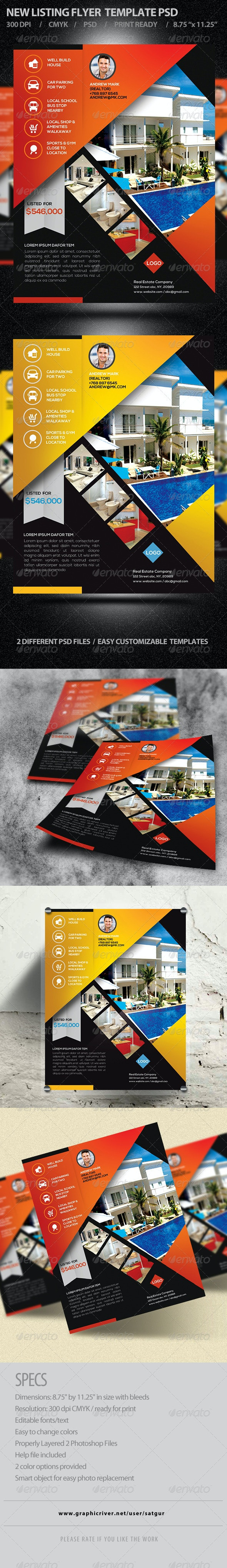 Real Estate / New Listing Promotion Flyer V2 - Corporate Flyers