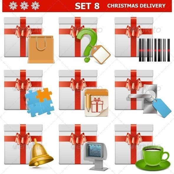 Vector Christmas Delivery Set 8 - Christmas Seasons/Holidays