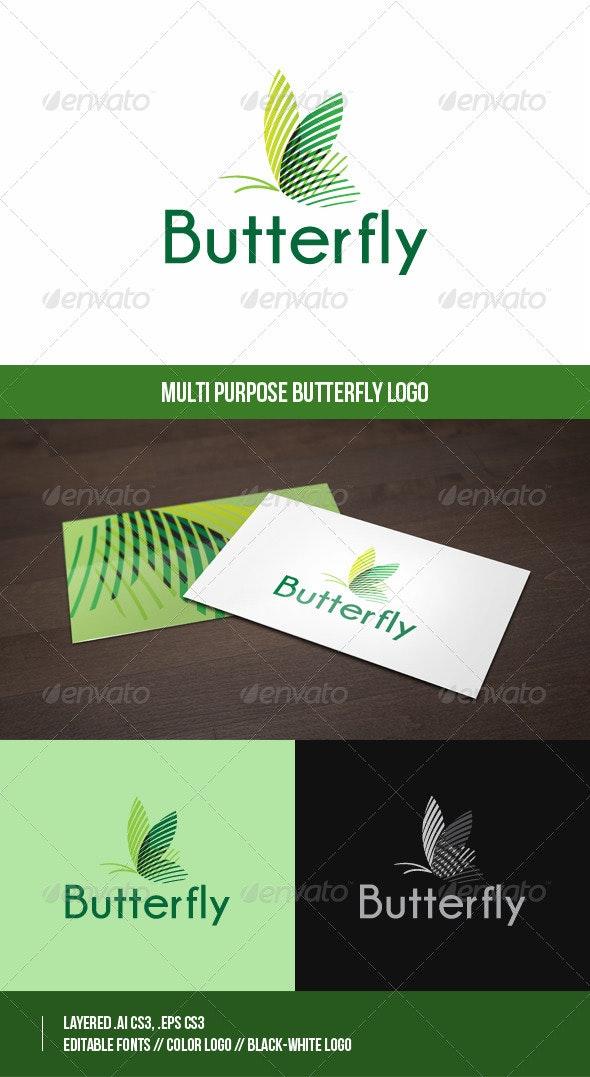 Butterfly Logo Template - Animals Logo Templates