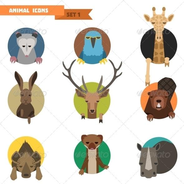 Animal Avatars. Vector Illustration - Animals Characters