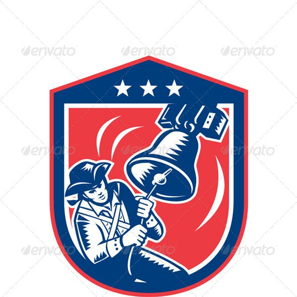 American Patriot Ringing Liberty Bell