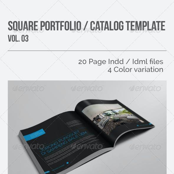 Square Portfolio / Catalog Template Vol.03