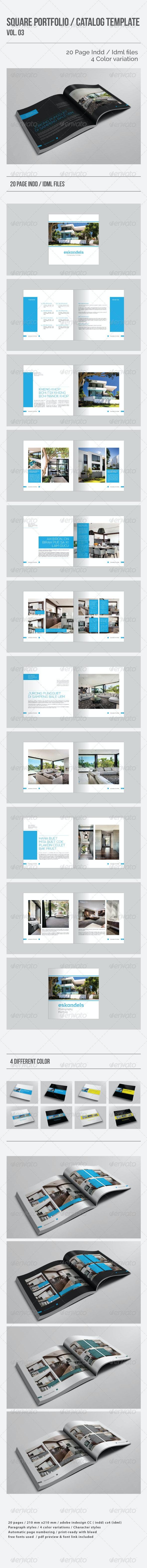 Square Portfolio / Catalog Template Vol.03 - Portfolio Brochures