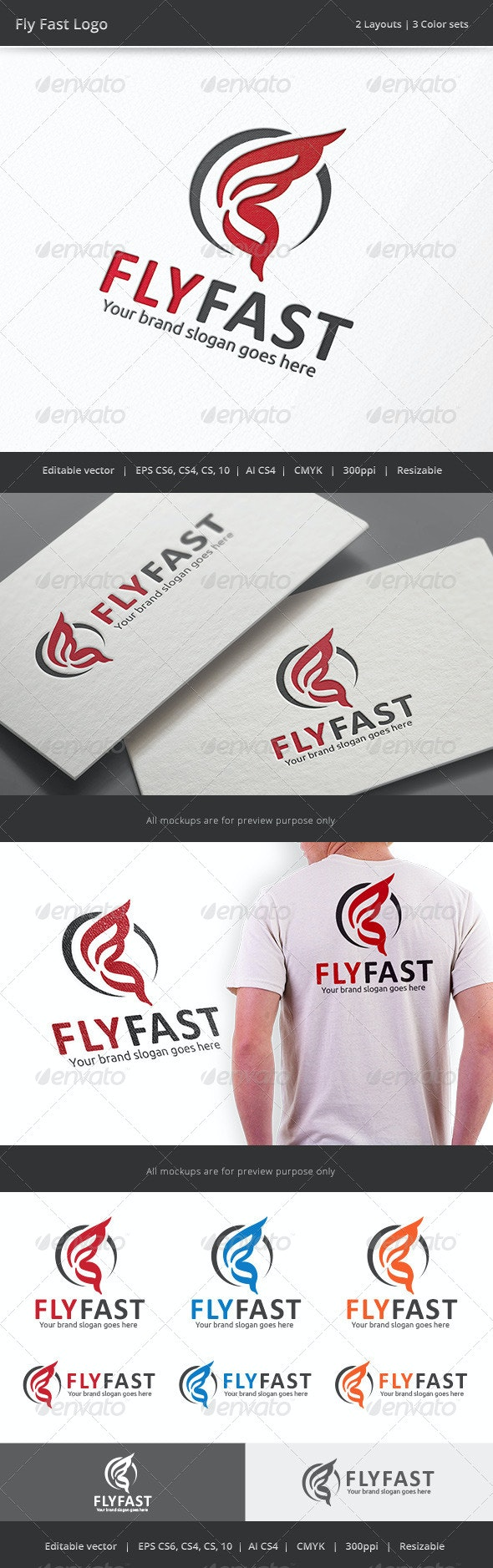 Fly Fast Logo - Vector Abstract