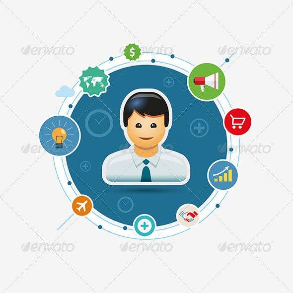 Business Marketing Circle - Vectors
