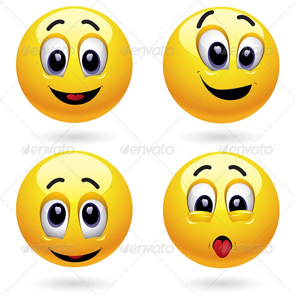 Happy and Playful Smileys - People Characters