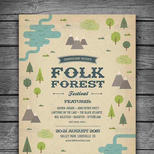 Folk Forest Festival - Music Flyer