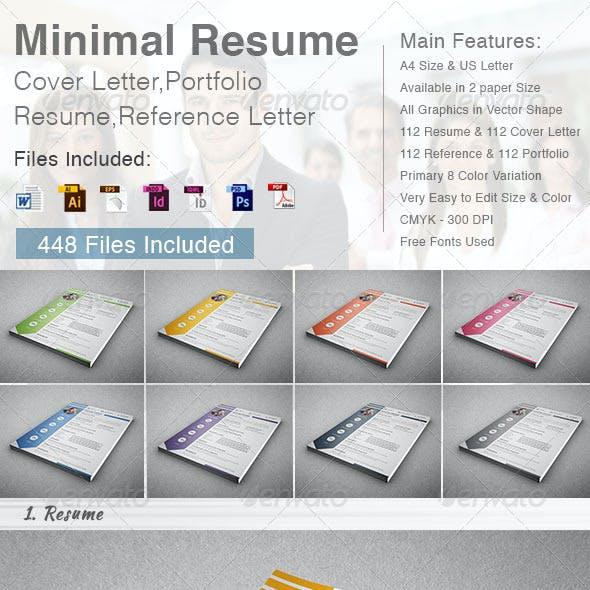 Minimal Resume - Cover Letter (4 in 1)