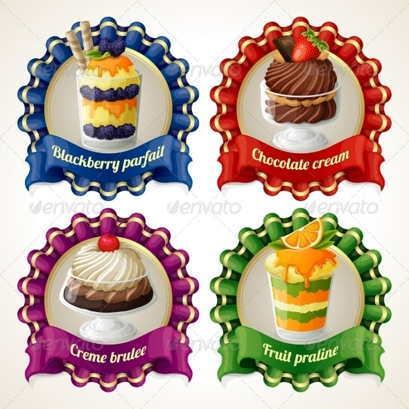 Sweets Ribbon Banners - Decorative Symbols Decorative