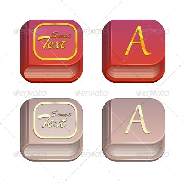 Vector Set of Book Icons - Computers Technology
