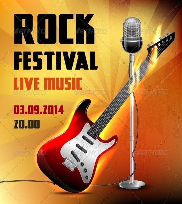 Rock Concert Poster - Backgrounds Decorative