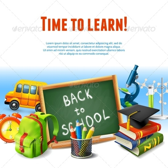 Back to School Border - Miscellaneous Vectors