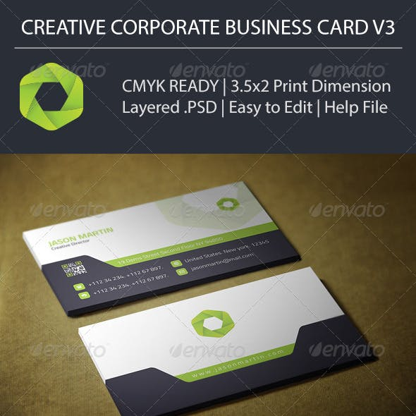 Creative Corporate Business Card V3