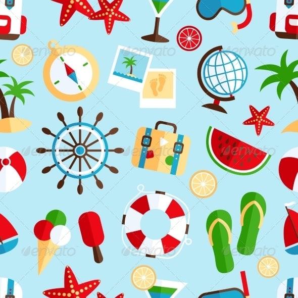Holiday Vacation Background - Backgrounds Decorative