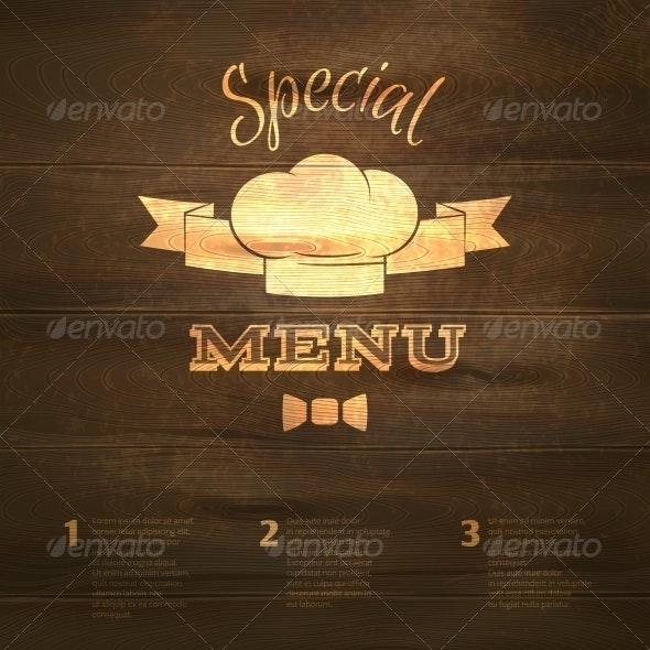 Restaurant Menu Template - Food Objects