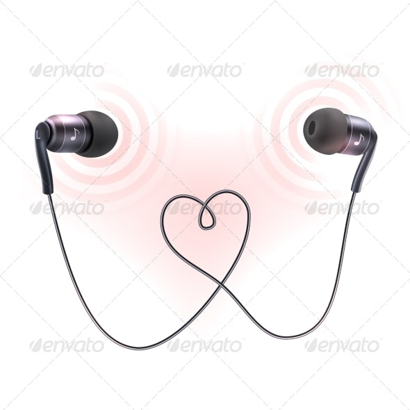 Headphones Earplugs Poster - Man-made Objects Objects