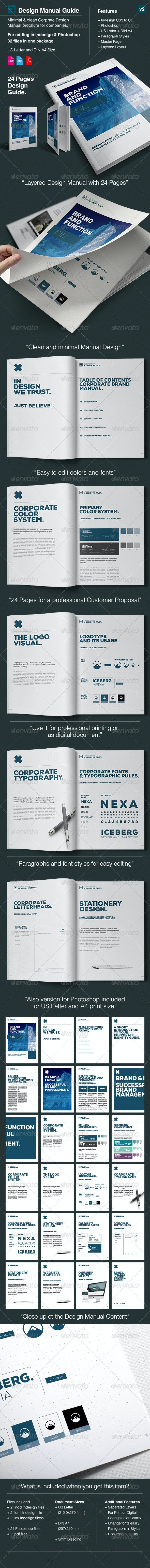 Elite Corporate Design Manual Guide - 24 Pages - Corporate Brochures