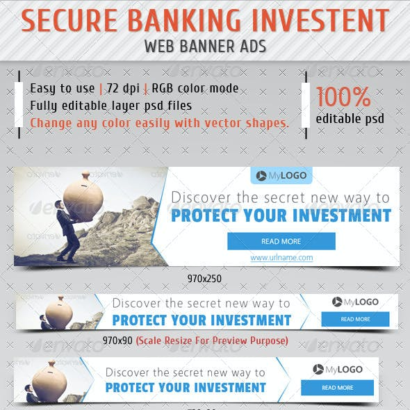 Secure Banking Investment Web Banner Ads