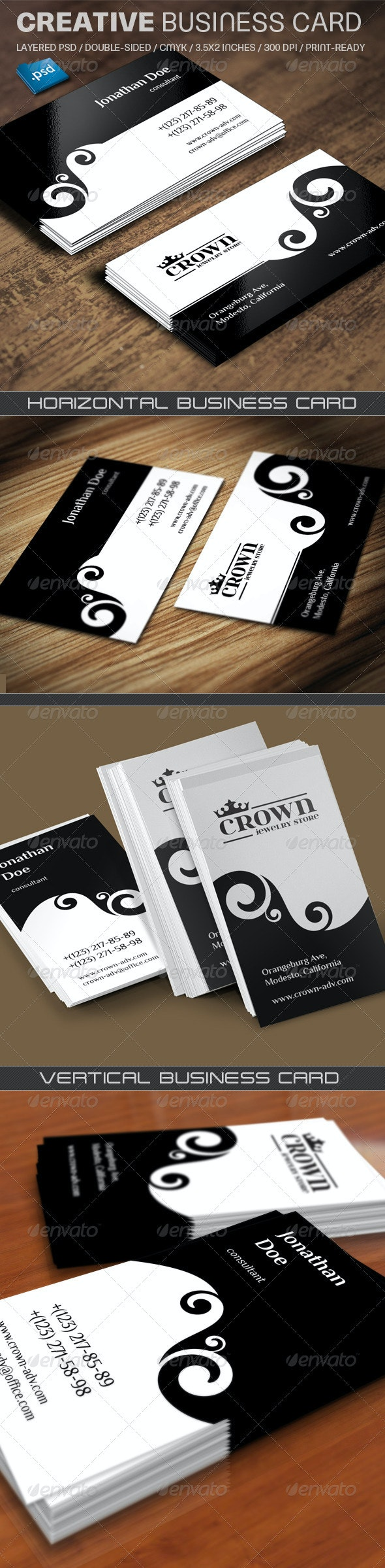 Creative Business Card - Retro/Vintage Business Cards
