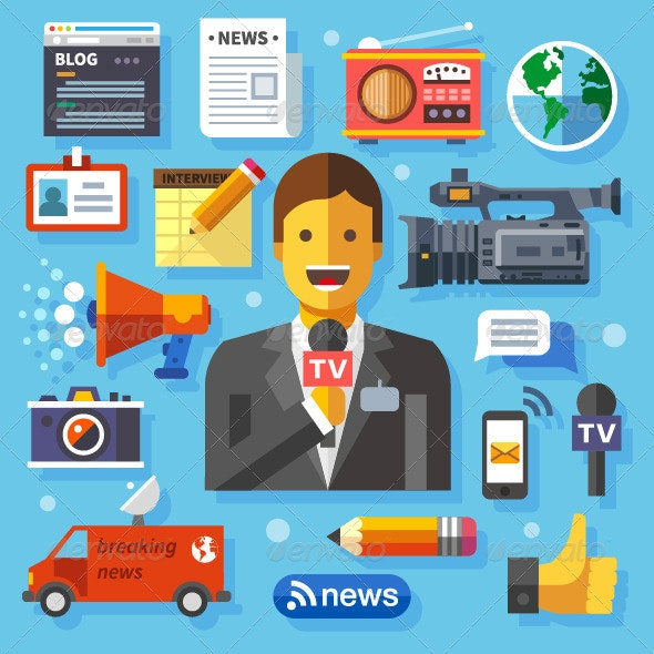 Information Technology and News - Technology Conceptual