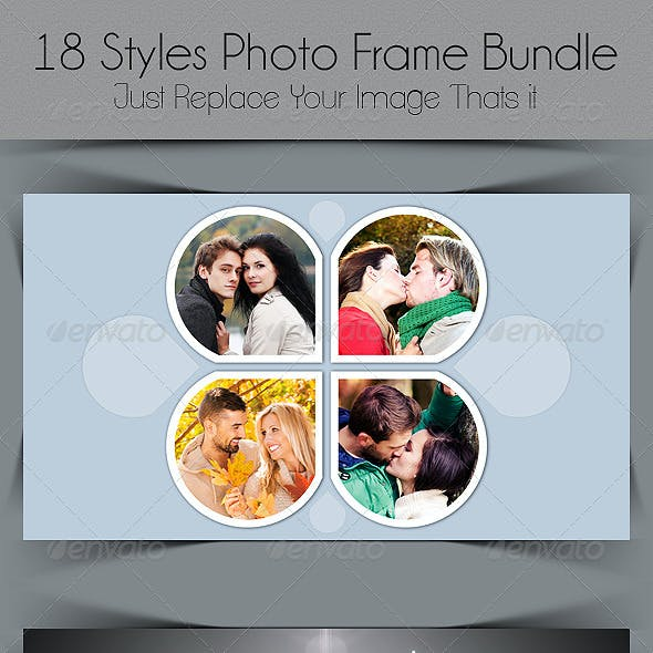 18 Styles Photo Frame Bundle