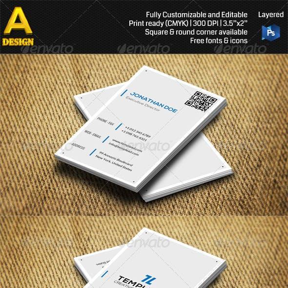 Minimal Corporate Business Card AN0488