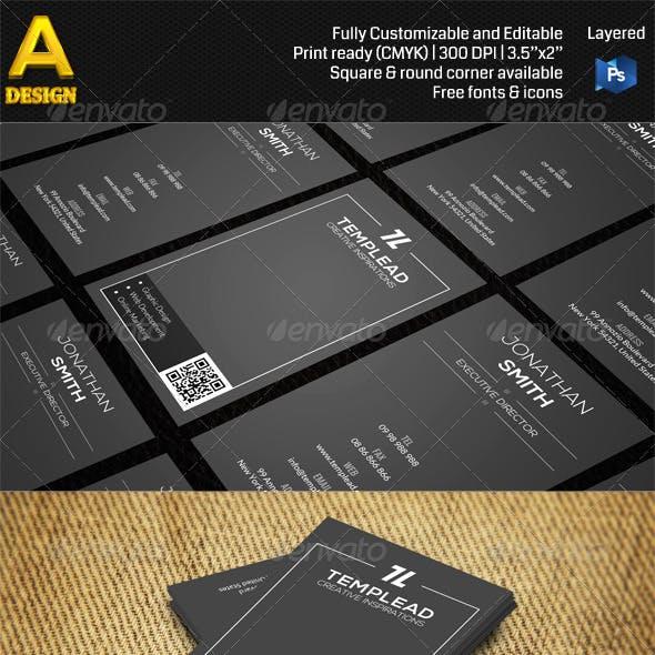 Minimal Corporate Business Card AN0489
