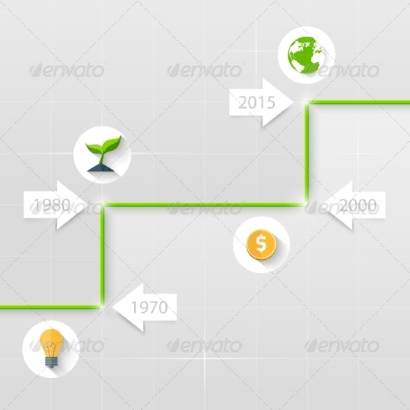 Timeline. Business Concept - Web Technology