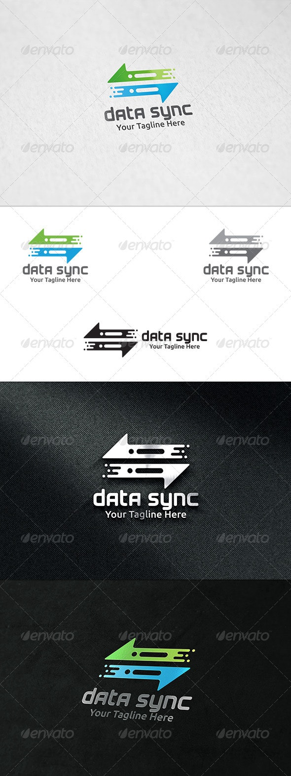 Data Sync - Logo Template - Symbols Logo Templates