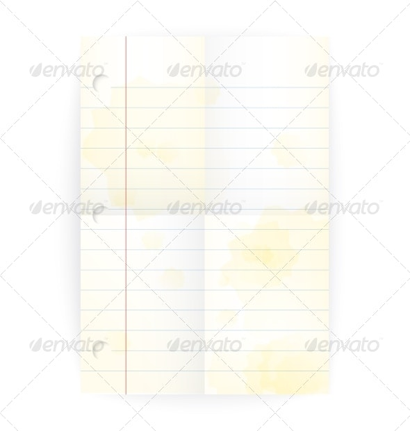 Notepad Page - Backgrounds Decorative
