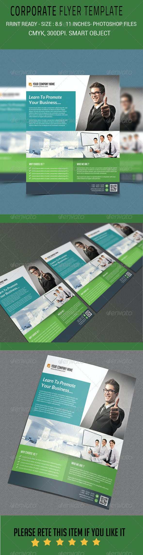 Creative Corporate Business Flyer Template - Corporate Flyers