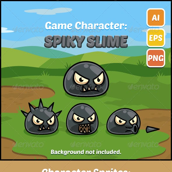 Game Character Spiky Slime