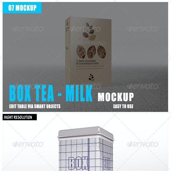 Box Tea Milk Mockup