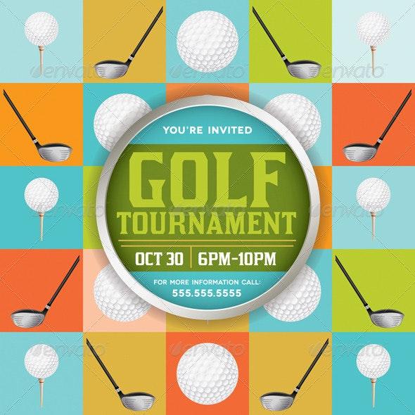 Vector Golf Tournament Illustration - Sports/Activity Conceptual