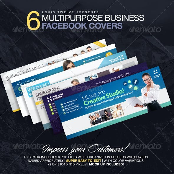 6 Multipurpose Business Facebook Covers