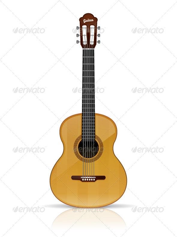 Acoustic Guitar - Objects Vectors