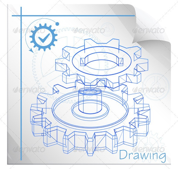 Technical Drawing - Illustration - Technology Conceptual