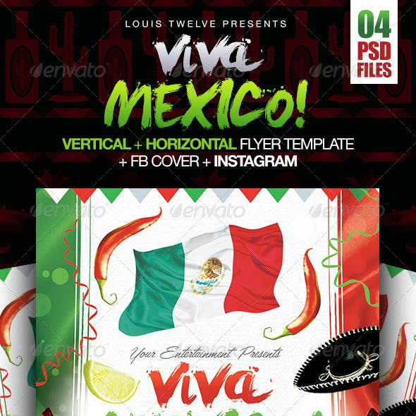 Viva Mexico Independence Day Party | 4PSD Files